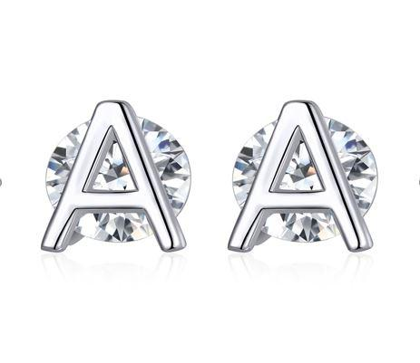 Crystal A Earrings (SBE739-A)
