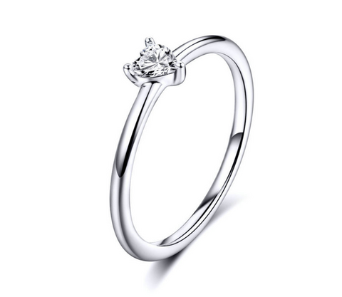 Soft Heart Ring (SBR498-8-SS)