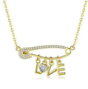 Pin your Love in me Necklace (SBN324)