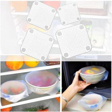 Silicone Fresh™ Reusable Lid  Food Covers