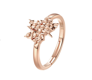Autumn maple leaves Ring (SBR481-SS)