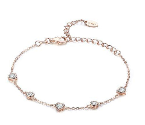 Rose gold heart bracelet (SBB097)