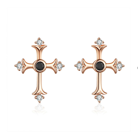 Vintage Cross Stud Earrings