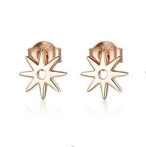 Rose gold galaxy star earrings ( SBE568-SS)