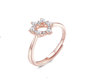 Gentle love rose gold ring (SBSR048-SS)