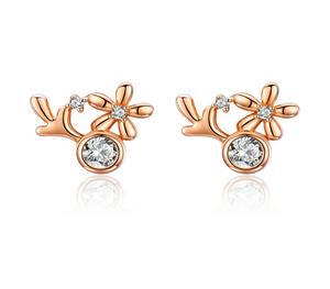 Silver rose gold earrings (SBSE032)