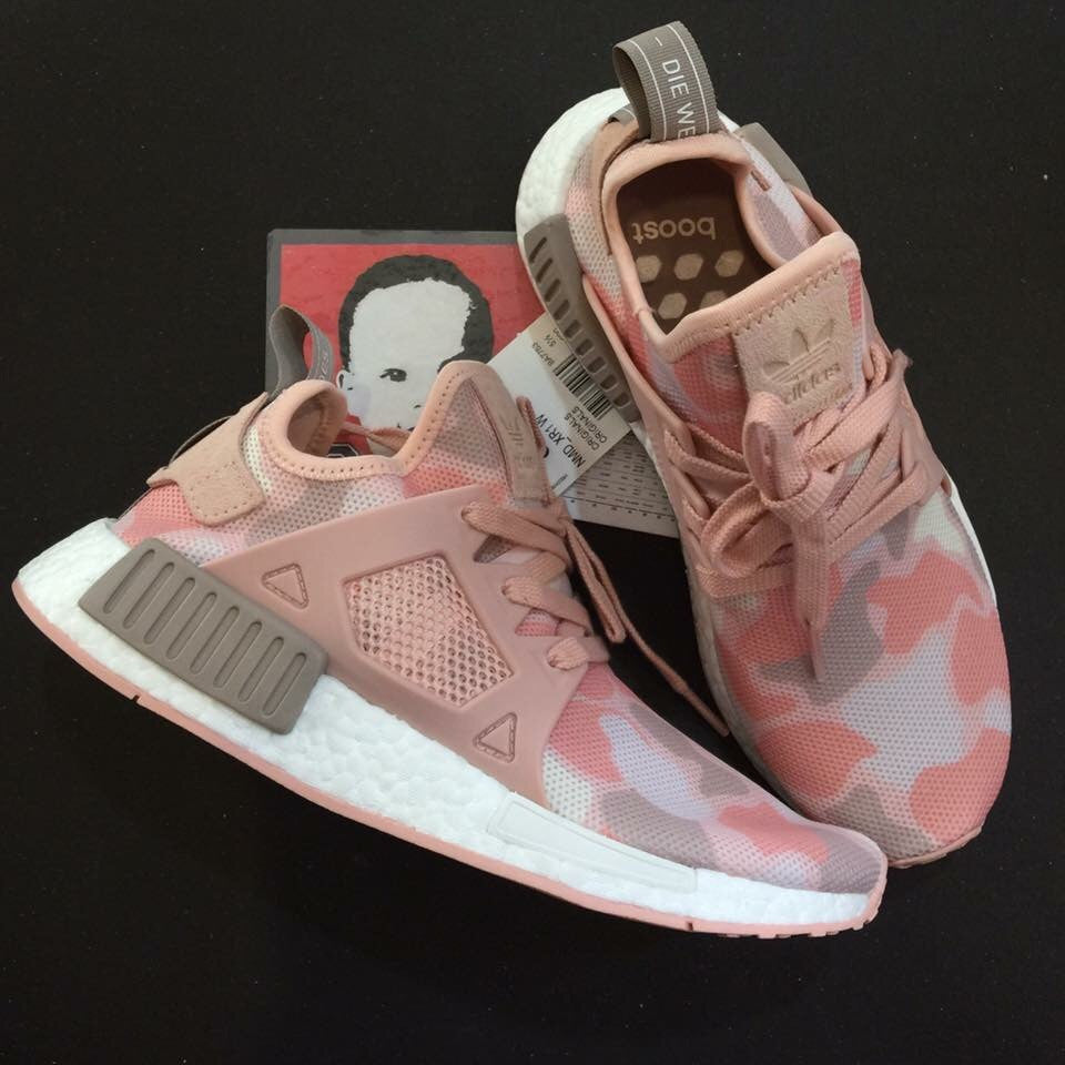 43fcf07621e95 Adidas NMD XR1 Pink Duck Camo Women – Like Mike Shoe Store