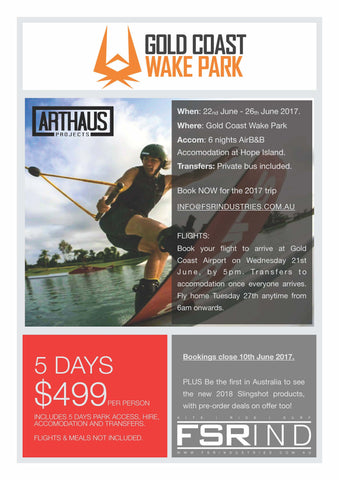 Gold Coast Wake Park Tour - June 2017
