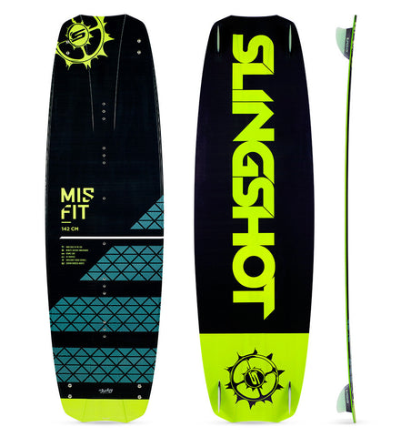 2017 Slingshot  Misfit Kiteboard (Includes fins, handle and hardware only. NO STRAPS/PAD)