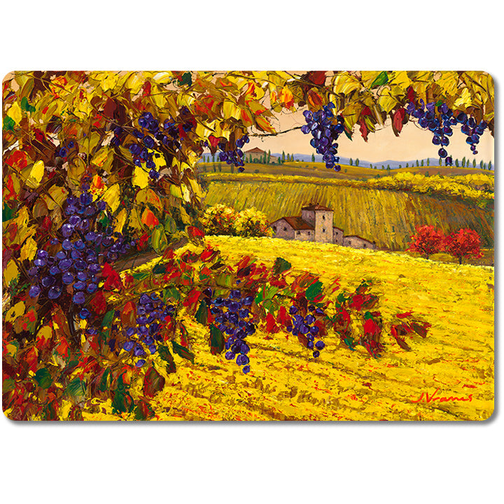 The Harvest -- Premium Glass Art Cutting Board