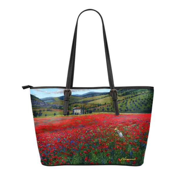Poppy Paradise - Small ArtTotes by Jennifer Vranes