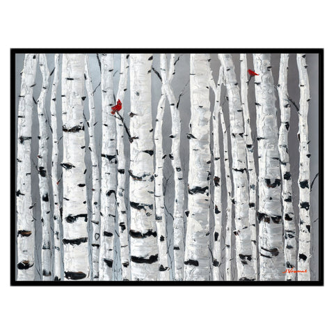 Love Birds, 30x40 with Black Frame - FREE Shipping
