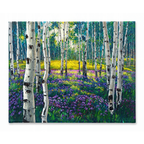 Meadow of Amethyst 32x40 - 2.5""