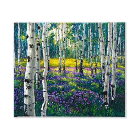 Meadow of Amethyst 24x30 - 2.5""
