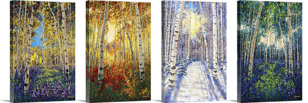 4 Seasons Collection - All 4 Seasons Prints, with Hand Enhancements