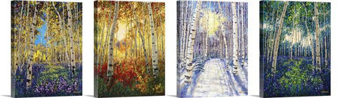 "4 Seasons with Hand-Embellishment and Personalization (20"" x 16"" each)"