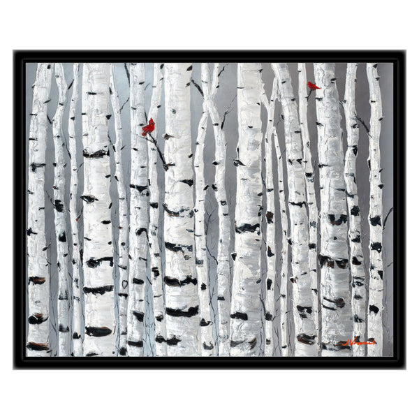 Love Birds, 16x20 with Black Frame - FREE Shipping