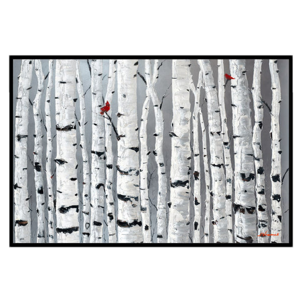 Love Birds, 32x48 with Black Frame - FREE Shipping