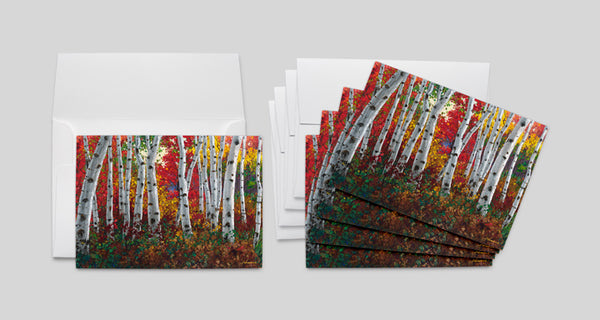 Autumn Jewel (5-pack) Art Greeting Cards, FREE Shipping