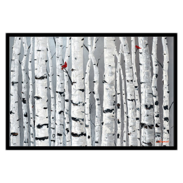 Love Birds, 20x30 with Black Frame - FREE Shipping