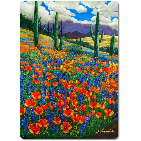 Desert Spring - Premium Glass Art Cutting Board