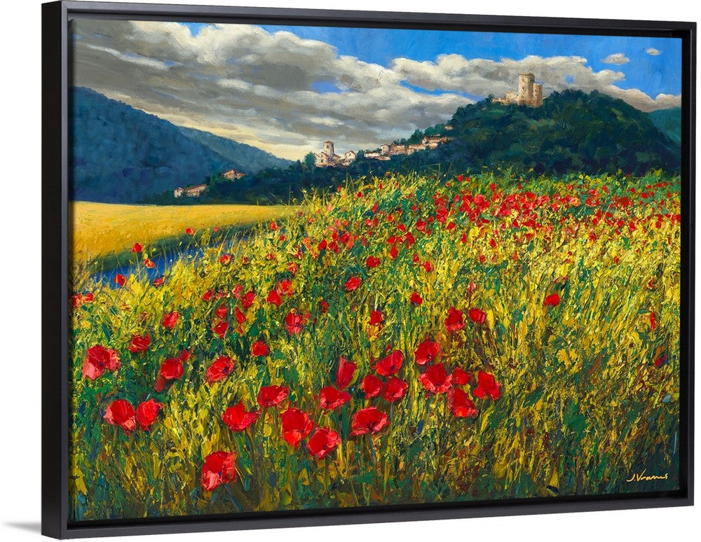 Tuscan Poppies - Art Print by Jennifer Vranes