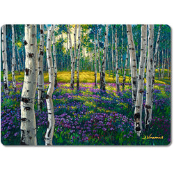 Meadow of Amethyst - Premium Glass Art Cutting Board