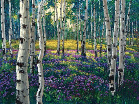 Meadow of Amethyst - Limited Edition Fine Art Giclée by Jennifer Vranes