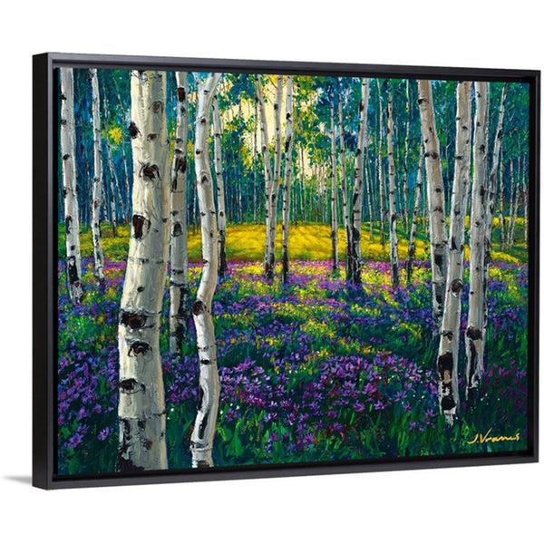 Meadow of Amethyst, 11x14 with Black Frame - FREE Shipping