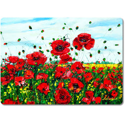 Poppy Happiness - Art Cutting Boards