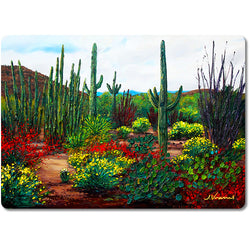 Desert Botanicals - Premium Glass Art Cutting Board