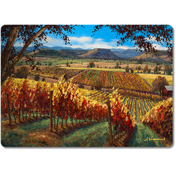 Autumn in the Rogue Valley - Premium Glass Art Cutting Board