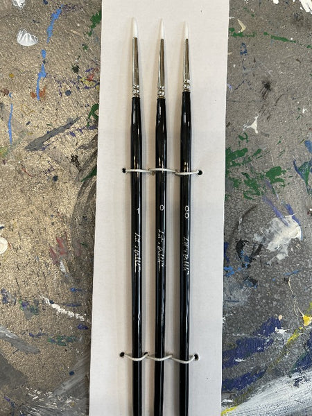 Let's Dabble Art - NEW Small Round Brushes (3-pack)