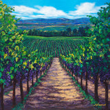 Summer in Wine Country - Limited Edition Fine Art Giclée by Jennifer Vranes
