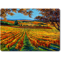 Vineyard Dreams - Premium Glass Art Cutting Board