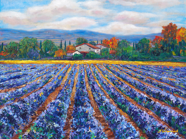 Fields of Purple - Limited Edition Fine Art Giclée by Jennifer Vranes