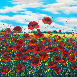 Poppy Brilliance - Limited Edition Fine Art Giclée by Jennifer Vranes