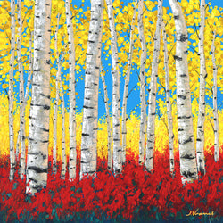 Crimson Aspens - Limited Edition Fine Art Giclée by Jennifer Vranes