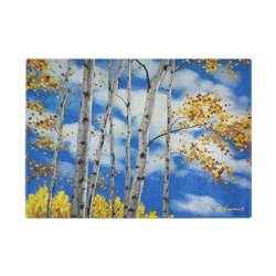Big Aspen Blue - Premium Glass Art Cutting Board