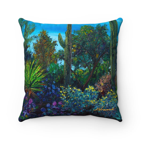 Premium Faux Suede Square Pillow - Sonoran Charm
