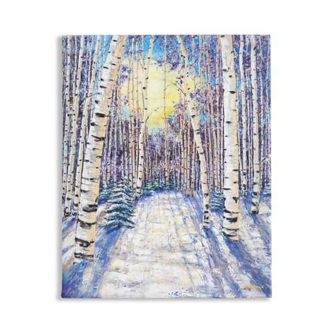 4 Seasons Collection, WINTER, 20x16 Art Print on Canvas
