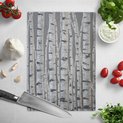 Pewter Life - Premium Glass Art Cutting Board