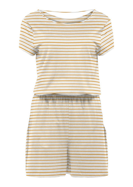 MUSTARD STRIPE PLAYSUIT