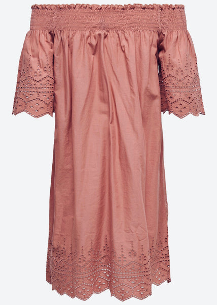 ROSE LASER BARDOT DRESS