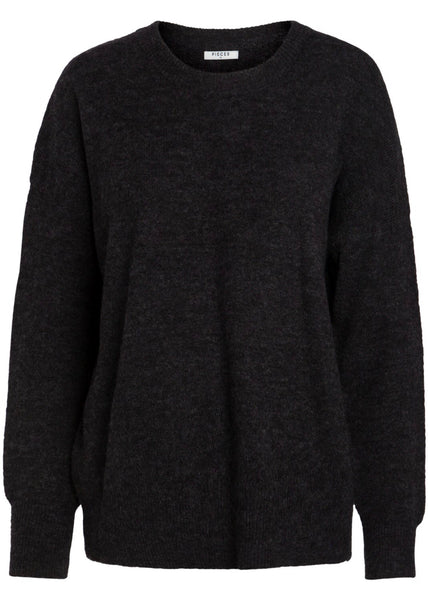 CHARCOAL GREY WOOL JUMPER