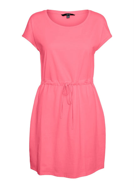GERANIUM PINK T-SHIRT DRESS