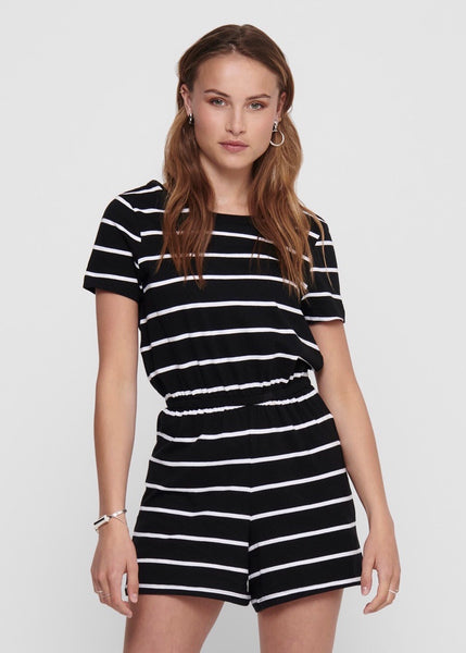 BLACK & WHITE STRIPE PLAYSUIT
