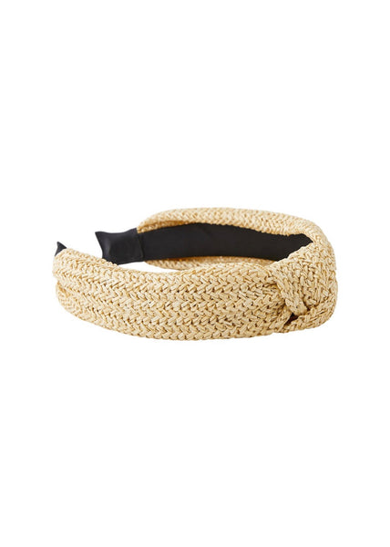 NATURAL WICKER HEADBAND