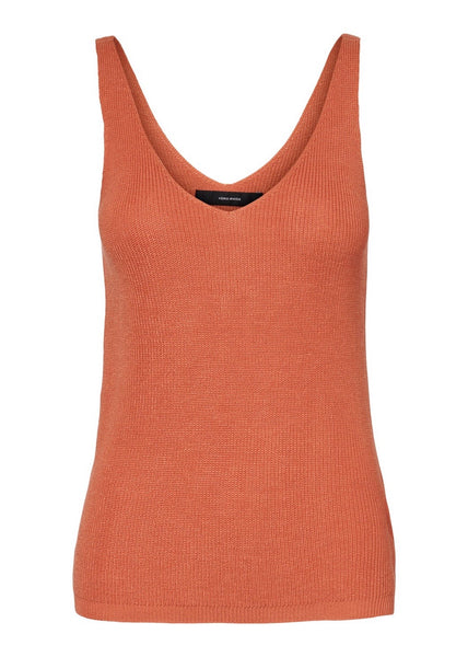 BURNT ORANGE KNIT VEST