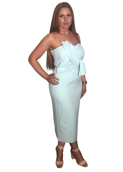 MINT BOW MIDI DRESS